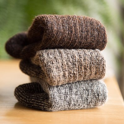 Alpaca Socks - Keep your feet warm on your walks in luxuriously soft socks from a small alpaca ranch