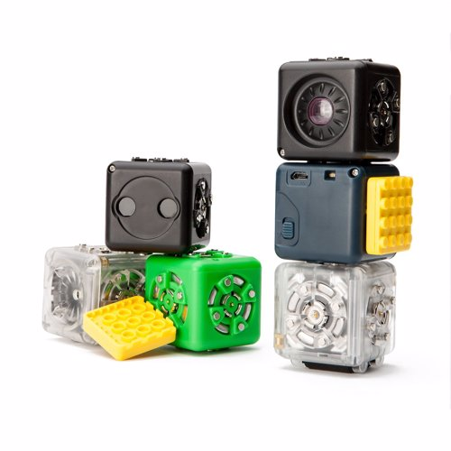 Cubelets Modular Robot Kit - Connect cubelets together that include motors and various sensors to build your own robots, that can be combined with your existing toys