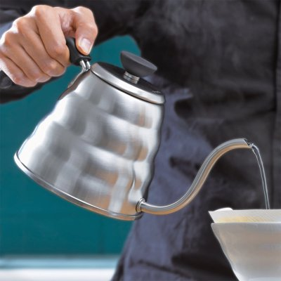 Hario V60 Coffee Drip Kettle - Make pour overs like a pro with this stunning stainless steel kettle that's easy to use, and offers a thin spout for easy pouring