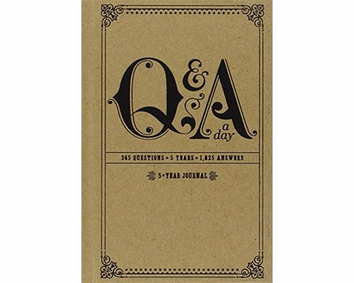 5-Year Q&A a Day Journal - Keep track of what was going through your head each day—for five years of your life, look back at how your answers change