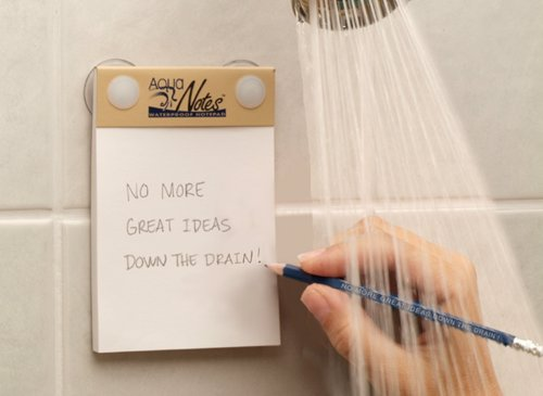 Aqua Notes Waterproof Notepad - Never forget your shower based brainwaves again