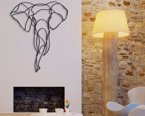 Animal Wall Art Sculptures - Sculptured wall art featuring elephants, rhinos. lions, tigers and more