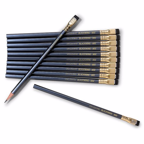 Palomino Blackwing - The worlds most famous pencil (12 pack) - Favoured by writers, artists and musicians such as Steinbeck, Capote, Nabokov, Quincy Jones, Stephen Sondheim