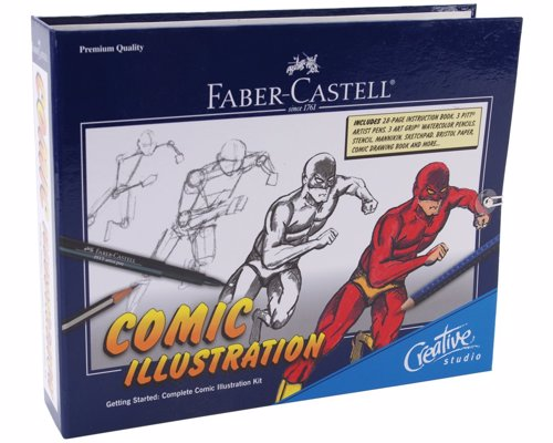 Comic Drawing Starter Kit - All the tools and instructions you need to learn to draw comic-style characters and backgrounds, create scenarios, and develop exciting graphic stories