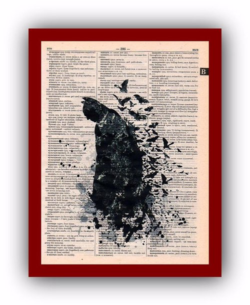 Upcycled Super Hero Wall Art - Your favorite superheroes, printed on old dictionary pages, musical scores, or plain paper