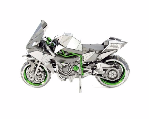 Motorcycle Metal Modelling Kit - Create a miniature metal Kawasaki Ninja H2R Motorcycle