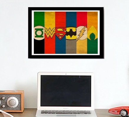 Minimalist Superhero Art Prints - Justice League and Avengers Minimalist Posters on 80lb high quality photo paper.
