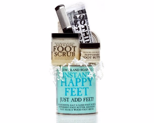 Foot Recovery Set - All natural Instant Happy Feet Pedicure Gift Set a great gift for runners or just those who want pampering