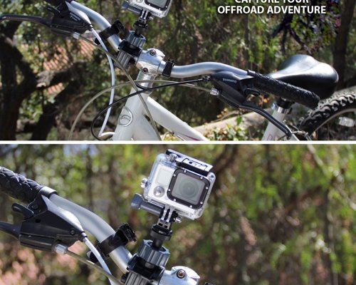 Bike Handlebar Camera Mount - Adjustable tripod clamp to mount a camera to your handlebars to capture your adventures