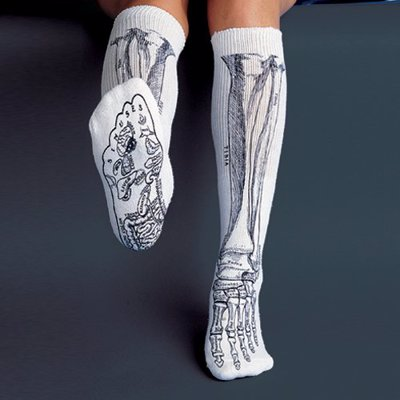 Anatomical Bone Socks - Show off your love of science and biology with these fun socks