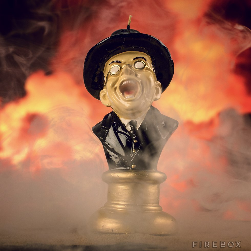 Melting Toht Candle - Face meltingly fun homage to the special effects finale in Raiders of the Lost Ark