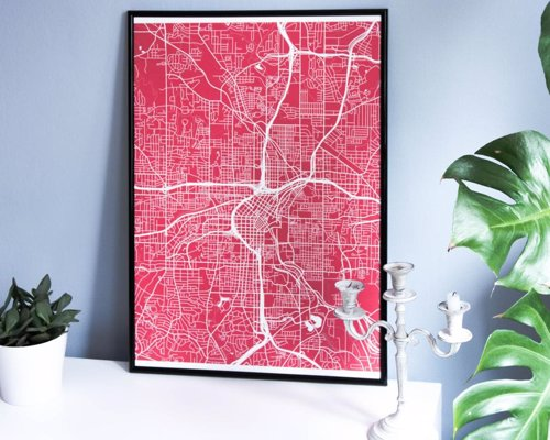 Grafomap - A customized map poster of your favorite place on earth