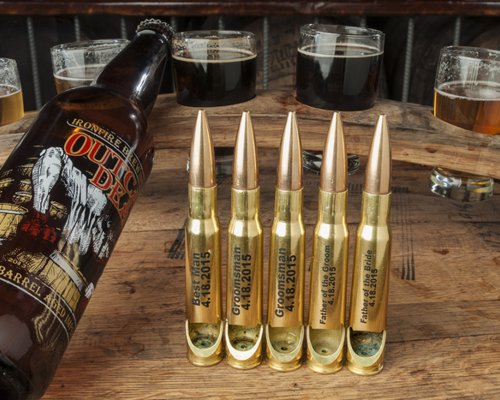 .50 Caliber Bottle Openers - Perfectly engineered bottle opener made from a real, once fired bullet