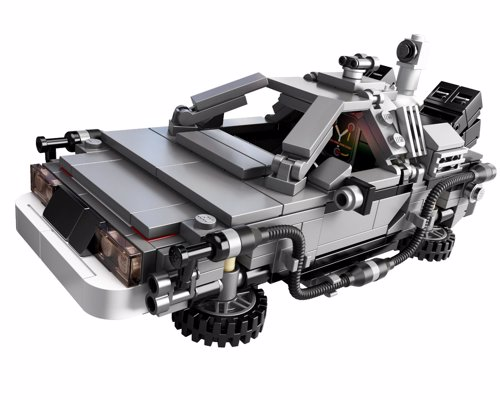 LEGO DeLorean Time Machine - Complete with gull wing doors, flux capacitor, Marty and Doc