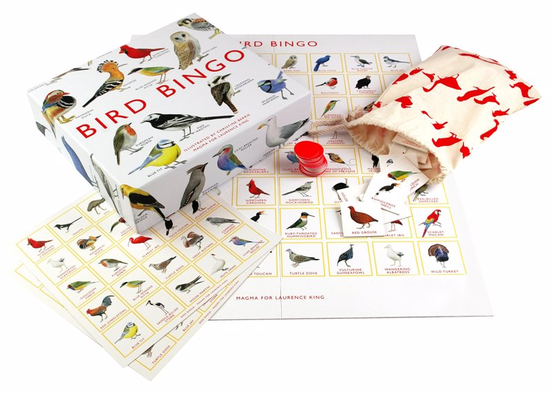 Bird Bingo - This beautifully illustrated bingo game features 64 species of birds from around the world.