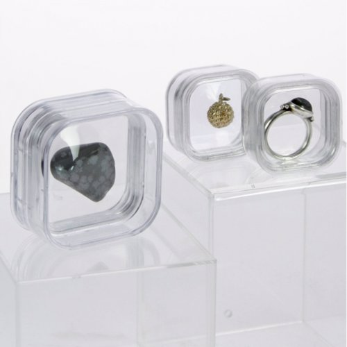 Floating Specimen Display Boxes - Display boxes that cushion the sample in silicone to give the appearance of floating