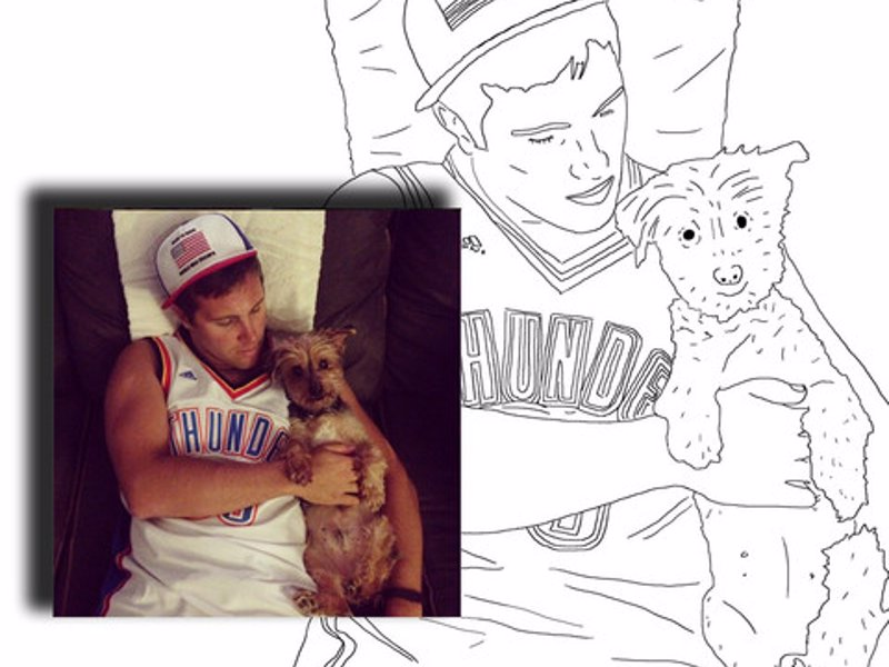 Custom Coloring Book From Your Own Photos - Create a personalized coloring book from your own photos for the creative doodler in your life