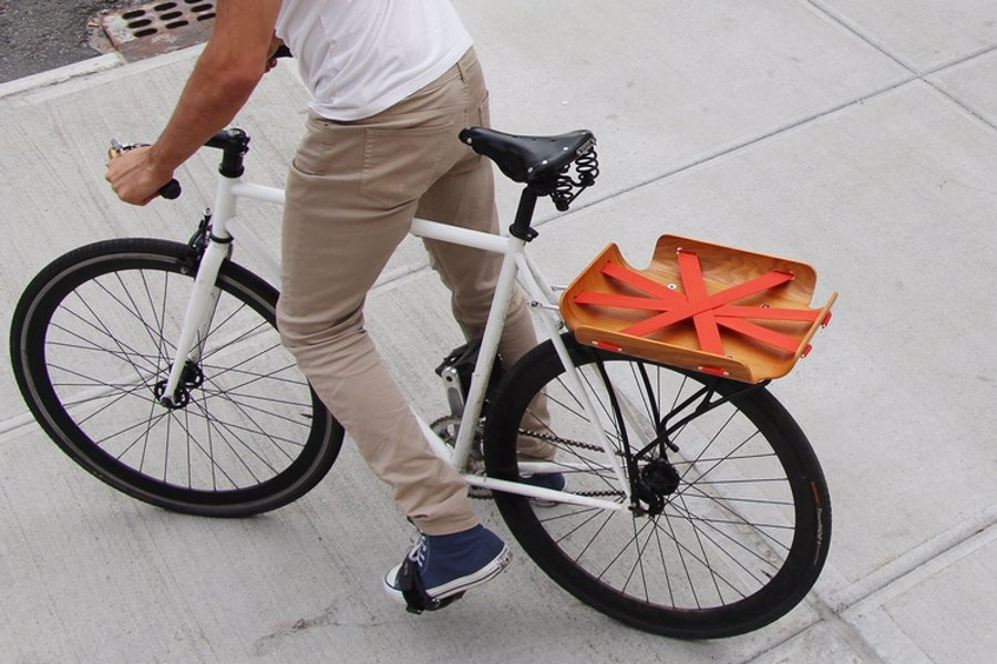 Super Stylish Bicycle Cargo Rack - An incredibly functional and good looking basket for the style conscious urban cyclist