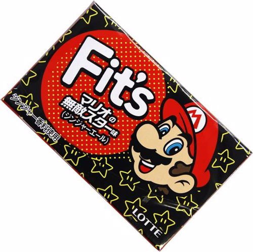 Limited Edition Nintendo Mario Gum - Nintendo celebrates its mascot with a ginger ale gum that is unique in its packaging as well as the gum itself