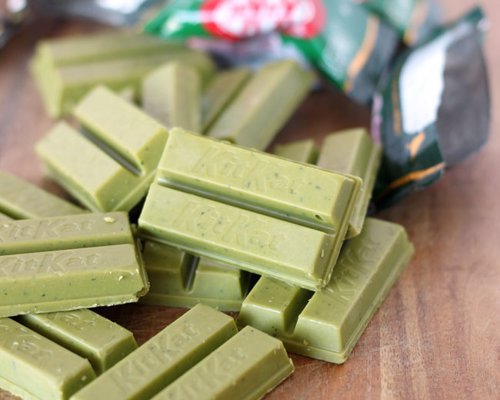 Green Tea Kit Kats - Special Green Tea (Maccha) Kit Kats! Out of all the flavors in Japan, this one is legendary
