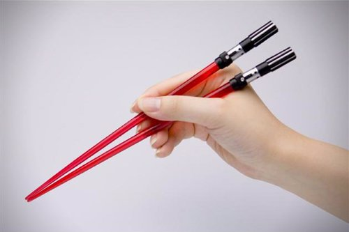 Star Wars Chopsticks - Chopsticks designed to look like lightsabers from the Star Wars universe