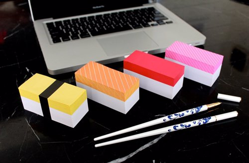 Sushi Sticky Memo Pads - Write down your to-dos on a stack of sushi memo notes