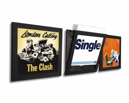 Easy Access Vinyl Frames - These clever record frames display album art and make it easy to switch them up whenever you like
