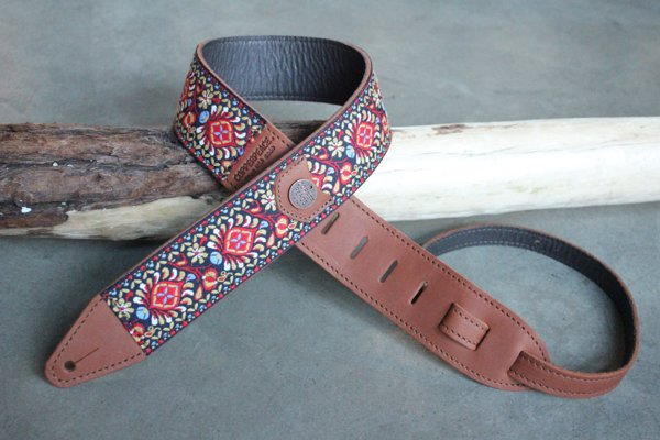 Beautiful Handmade Guitar Straps - These handmade leather guitar straps come in a range of designs add some extra style to your axe