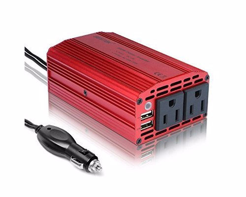 Power Inverter Car Charger - Charge all your gadgets on the go from your car, phones, laptops, iPads, DVD players, hair straighteners