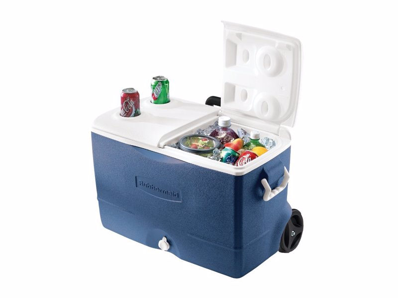 5-Day Ice Cooler - Rugged, wheeled ice box that will keep your food (and beers) cool for almost a week