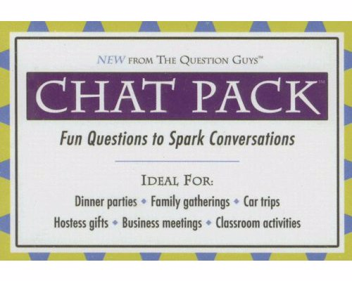 Chat Pack - Fun Questions to Spark Conversations - Thought provoking, fun and quirky questions to get conversations started, great for travelling, family gatherings and more