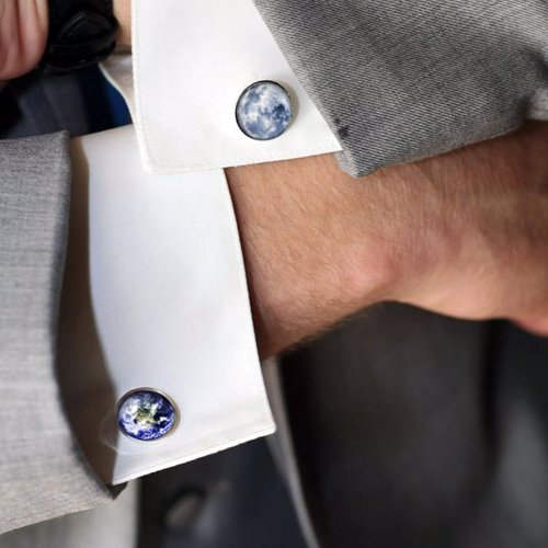 Galaxy and Space Cufflinks - Beautiful cufflinks featuring images of planets, galaxies, and even the famous Golden Record from the Voyager Probe