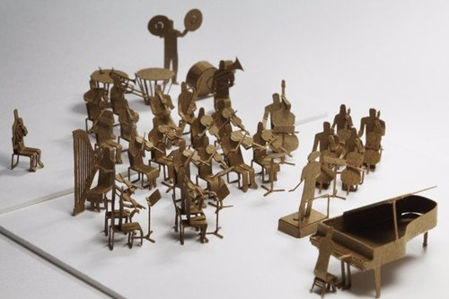 Orchestra Paper Model Set - Construct a miniature orchestra diorama with this set of precut parts