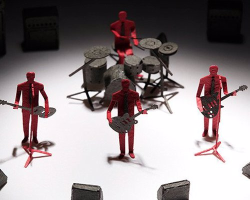 Rock Band Paper Model Set