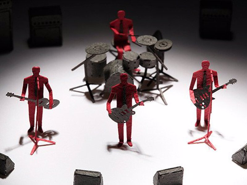 rock band paper miniature construct diorama precut parts dice oblique strategies brian gifts expertlychosen musician eno