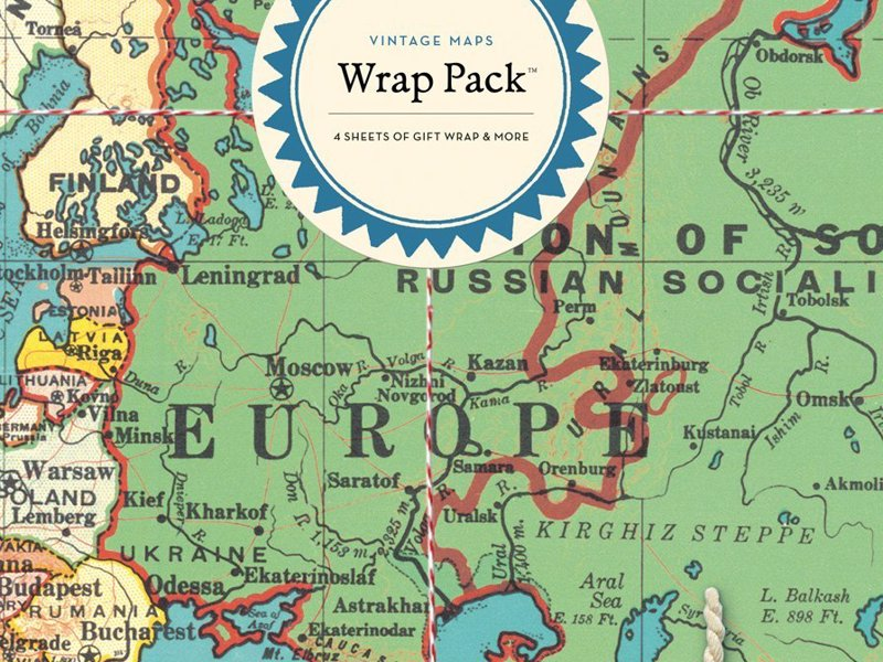 Vintage Maps Gift Wrap Pack - Beautiful paper and gift wrap set for any adventure lover