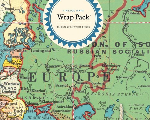 Road trip gifts 2018 expertly chosen gifts vintage maps gift wrap pack gumiabroncs