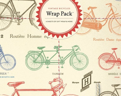 Vintage Bicycle Gift Wrap Pack