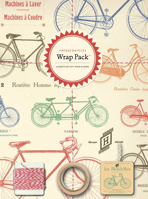 Vintage Bicycle Gift Wrap Pack - Beautiful paper and gift wrap set for the cycling lover