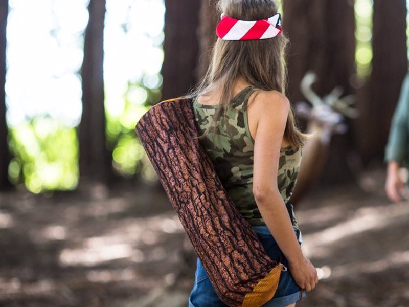 Unique Yoga Mat Bags by Brogamats - Unique Downward Facing Log and Burrito themed yoga mat bags