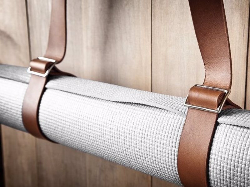 Leather Yoga Mat Strap by Mr. Lentz - A stylish and minimal way to carry your yoga mat to and from class