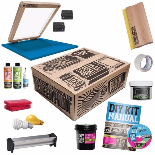 DIY T-Shirt Screen Printing Kit - Everything you need to start silkscreening your own t-shirts like a pro from home