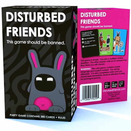 Disturbed Friends - This game should be banned - A party card game you will wish you never played - vote on what you think your friends will do in horrible situations
