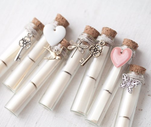 Secret Message Bottles - These little bottles are so versatile you can use them in any number of ways to send a special message