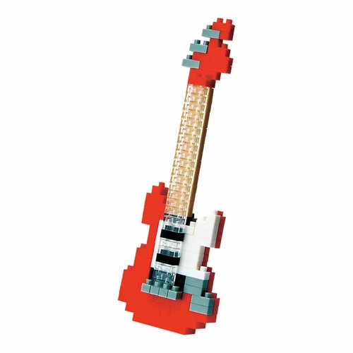 Nanoblock Electric Guitar - Build a tiny rock star guitar complete with whammy bar and foot pedal