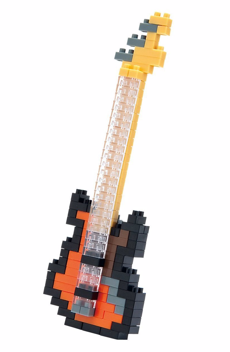 Nanoblock Bass Guitar - No miniature rock band is complete without a solid rhythm section
