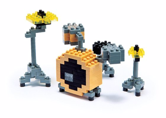 Nanoblock Drum Set - A fun little 3D construction block drum kit