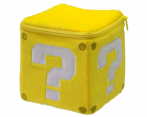 "Super Mario Coin Box Plush - A cute 5"" plush that can be used to hold a secret treasure trove of gifts"