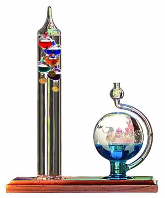 Galileo Thermometer with Goethe Barometer
