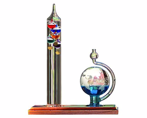 Galileo Thermometer with Goethe Barometer - A fun example of early scientific measurement inspired by Galileo's instruments